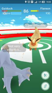 Gym battling in Pokemon Go
